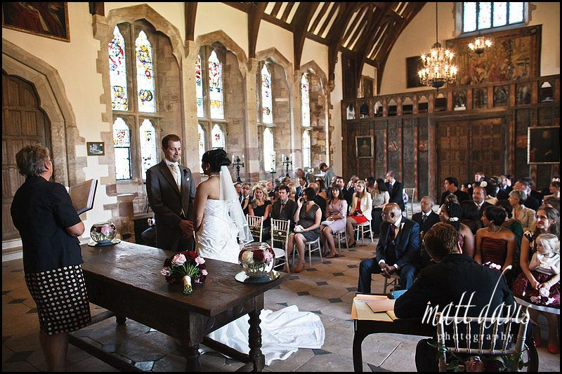 civil ceremony at Berkeley Castle