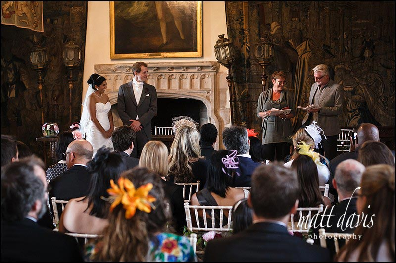 two people doing a wedding reading