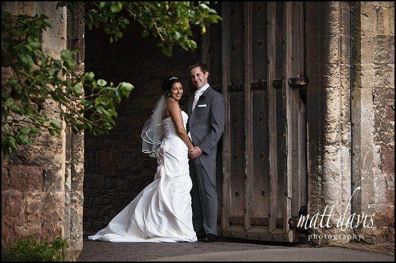 wedding couple at Berkeley Castle