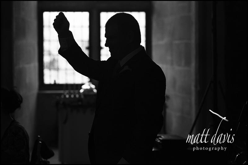 Wedding photography of speeches at Berkeley Castle