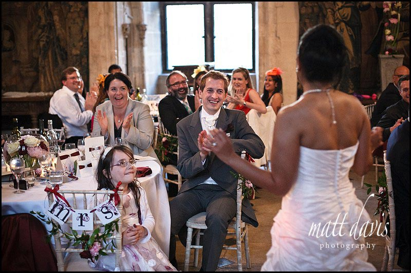 wedding speeches at Berkeley Castle Gloucestershire