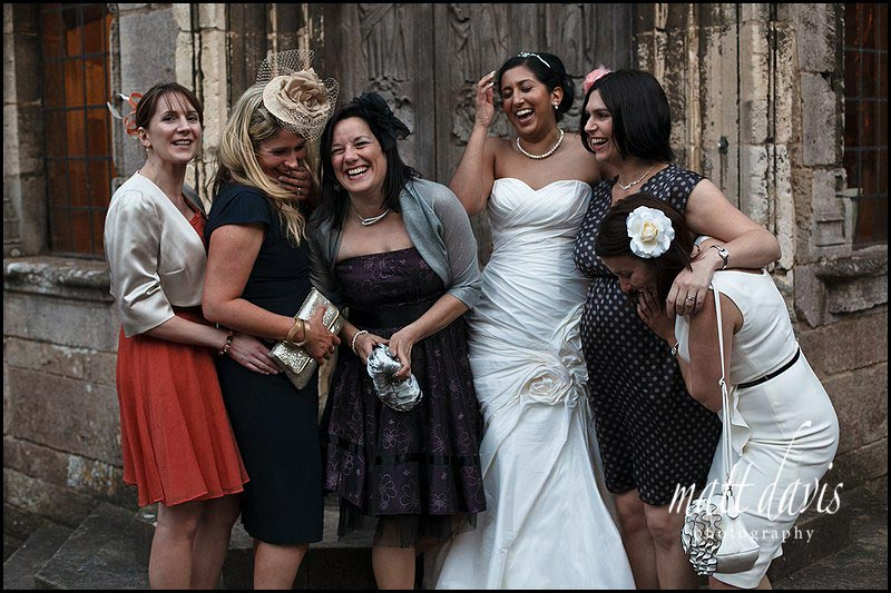 Group photos taken at Berkeley Castle weddings