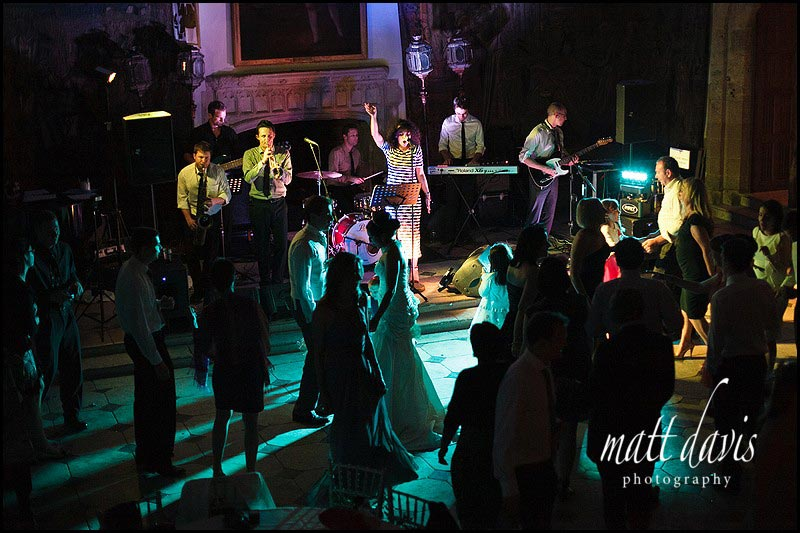 Band playing at Berkeley Castle weddings