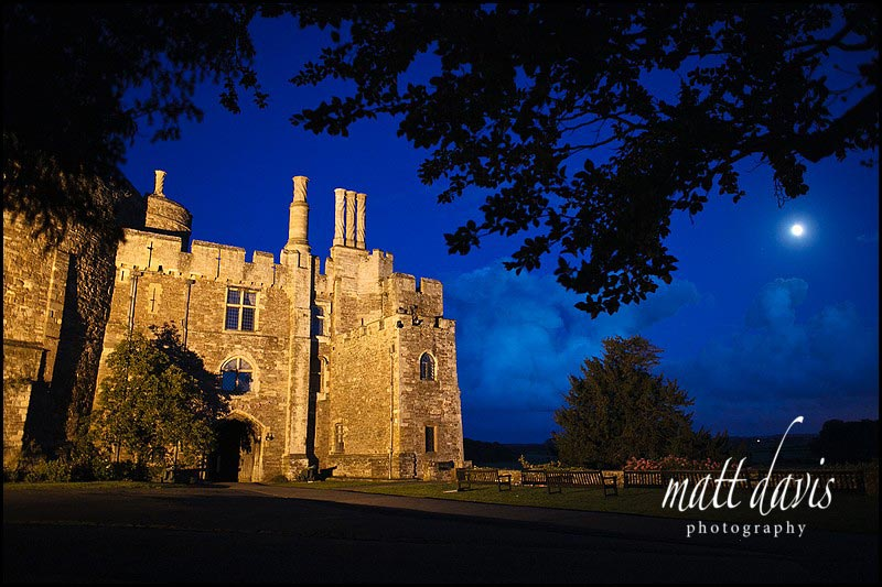 Amazing moonlit photo of Berkeley Castle