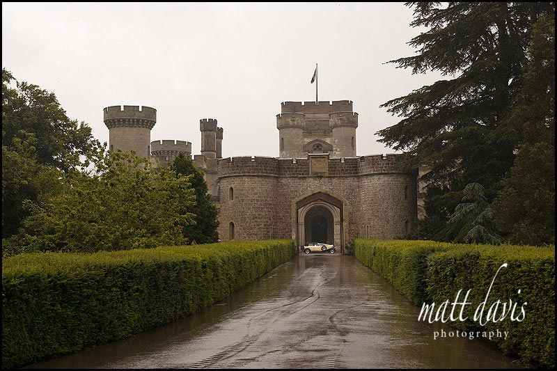 Eastnor Castle photo with wedding car