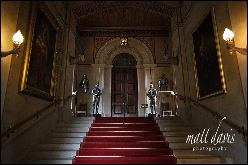 Inside Eastnor Castle main entrance