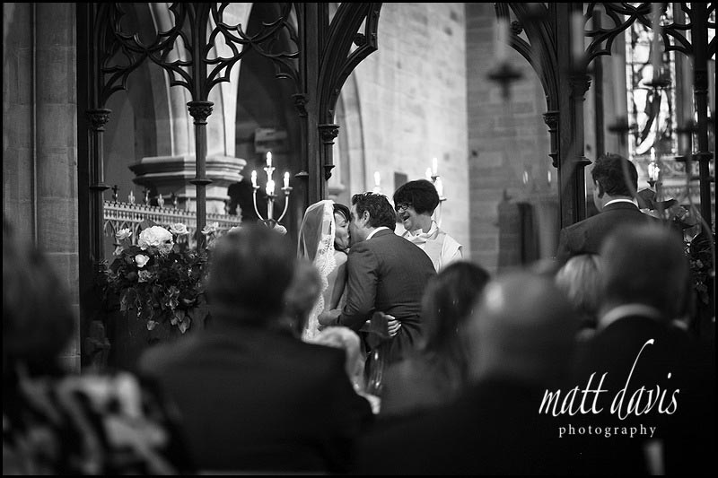 Eastnor Church documentary wedding photographer