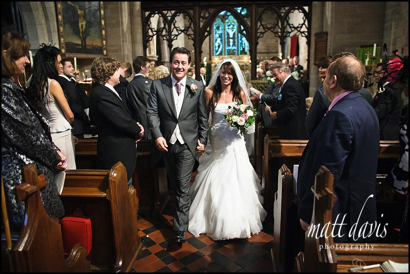 Wedding at Eastnor Church, Ledbury