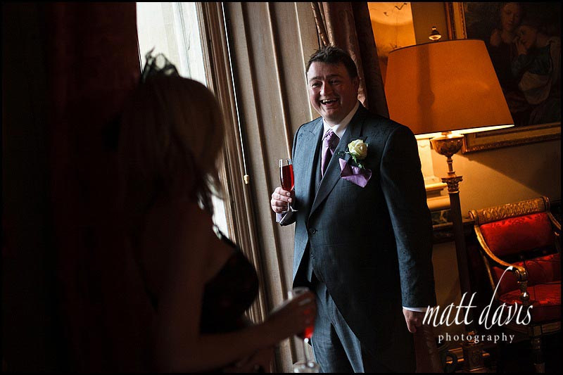 Eastnor Castle wedding drinks reception