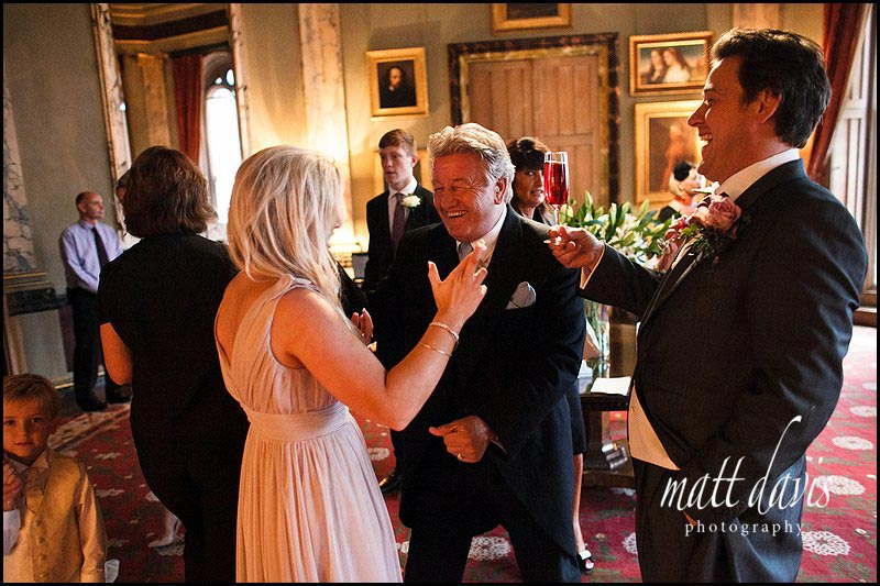 Eastnor Castle wedding photography of drinks reception