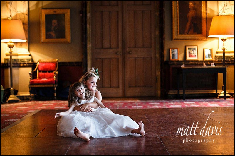 Eastnor Castle wedding photos of bridesmaids