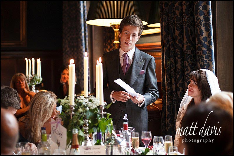 Eastnor Castle wedding speeches