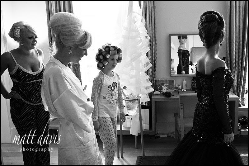Bridal preps at Cowley Manor
