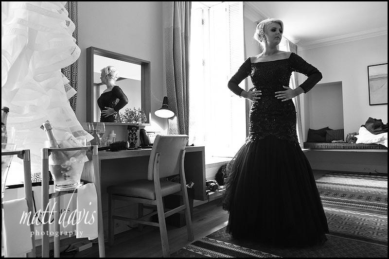 full length Black bridesmaid dresses