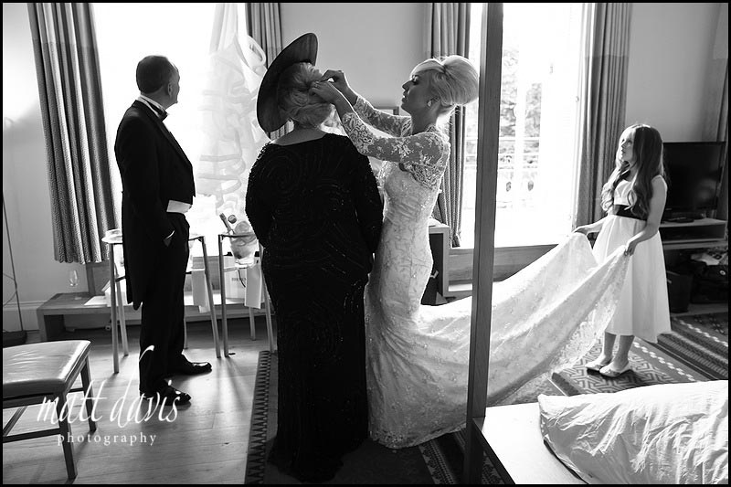 black and white wedding photos at Cowley Manor