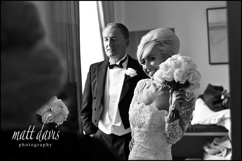 black and white bow tie wedding photos at Cowley Manor Gloucestershire