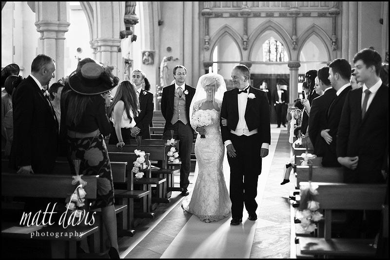 Gloucestershire wedding photographer at St Gregory's Church, Cheltenham