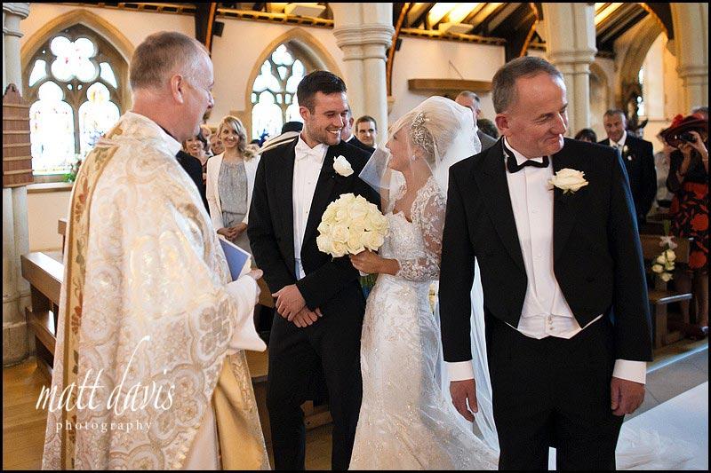 Natural wedding photos at Church in Cheltenham