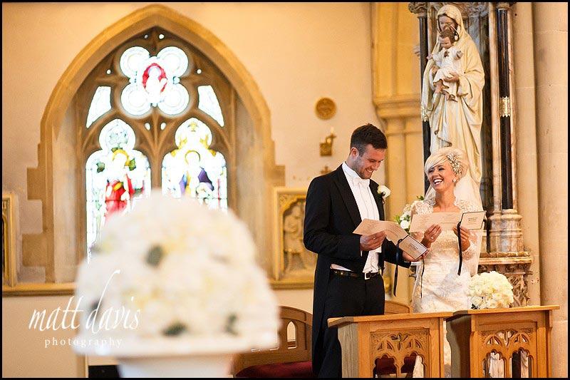 Catholic wedding ceremony in Cheltenham, Gloucestershire
