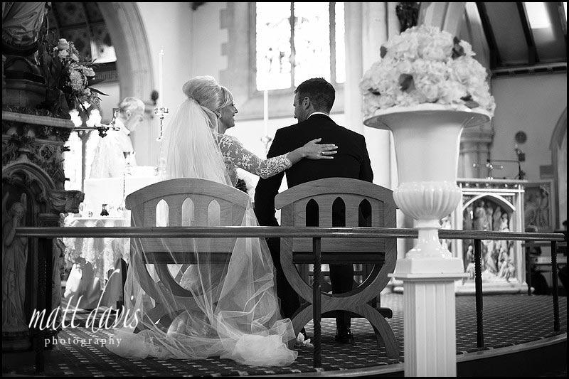 Discreet wedding photographer St Gregory's Church, Cheltenham, Gloucestershire