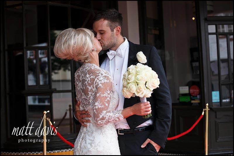 Wedding photos outside The Daffodil
