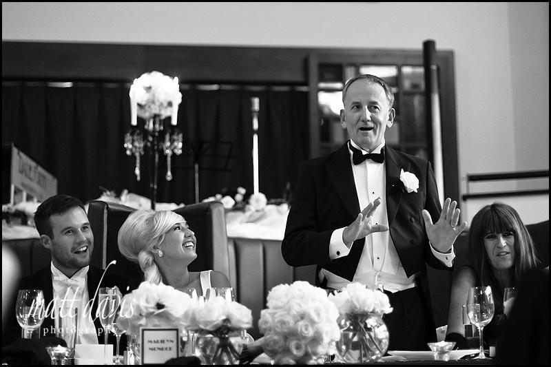 Wedding speeches at the daffodil Cheltenham