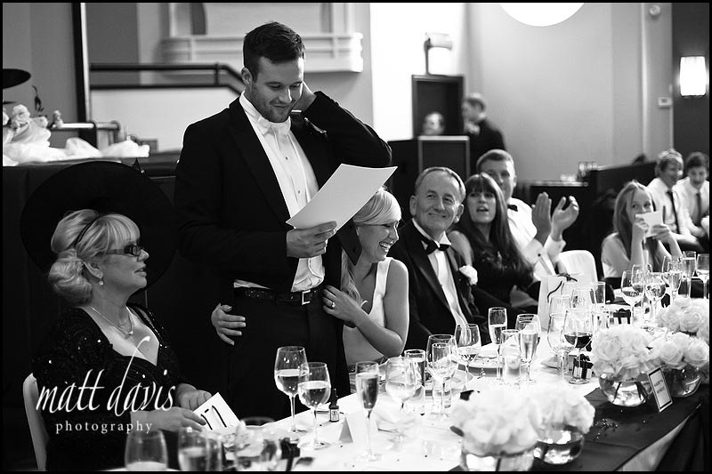 Black tie wedding at The Daffodil Cheltenham
