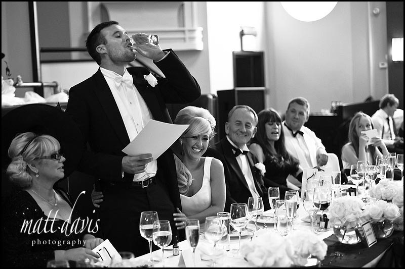 Grooms wedding speech at The Daffodil Cheltenham