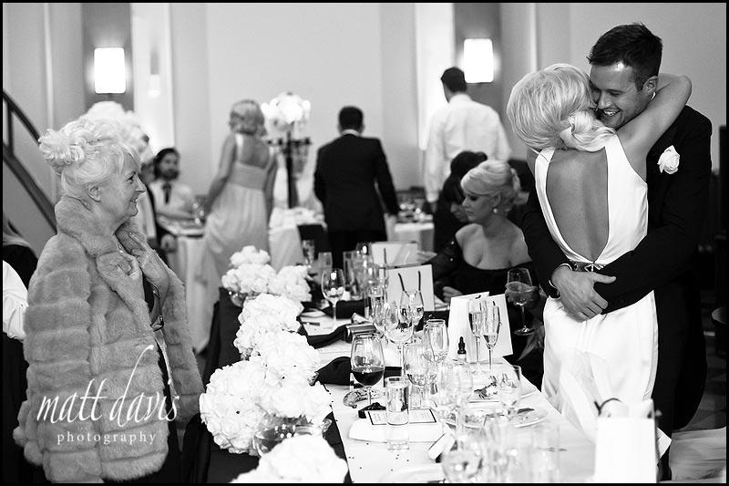 black and white photo by Gloucestershire wedding photographer Matt Davis