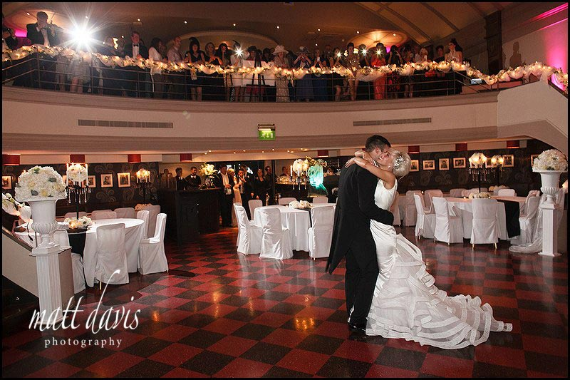 First dance photo at a wedding reception at The Daffodil, Cheltenham