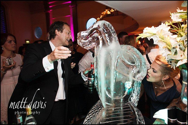 Wedding ice sculpture at The Daffodil, Cheltenham