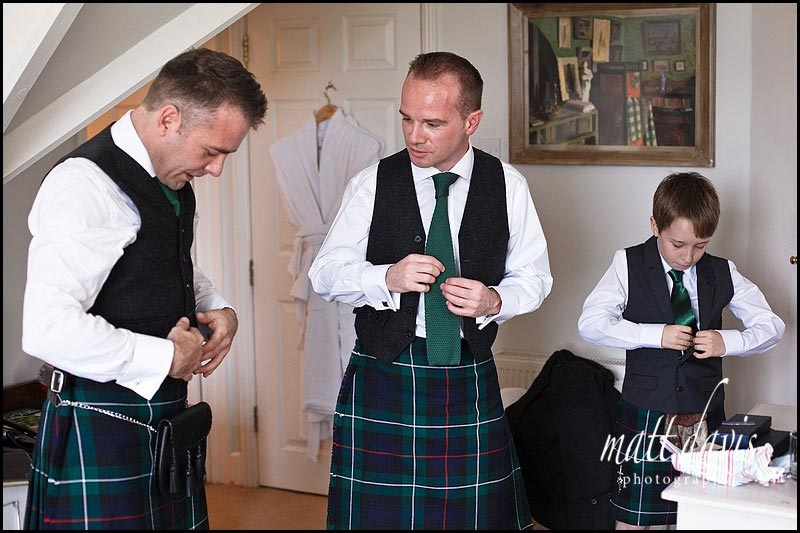 A Wiltshire wedding with a Scottish theme