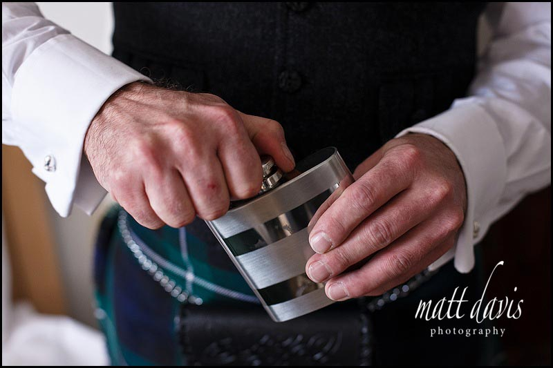 hip flash at Scottish wedding