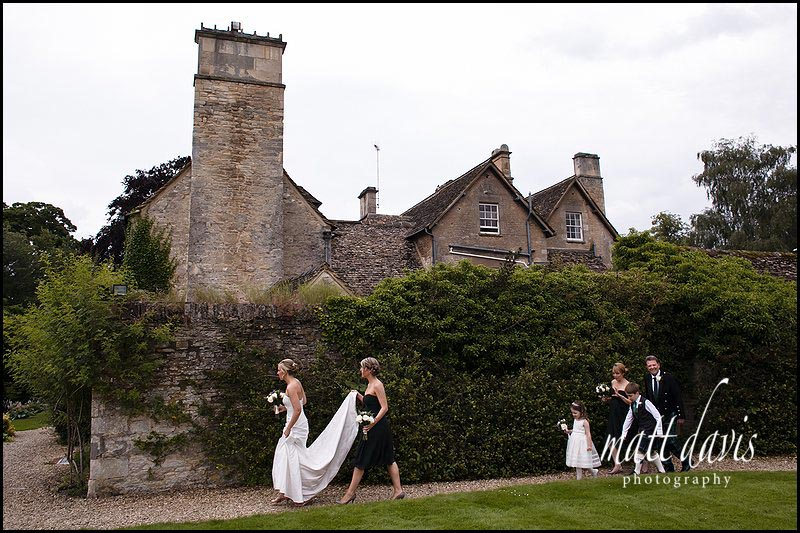 bride and bridesmaids at The Rectory Hotel for a wedding