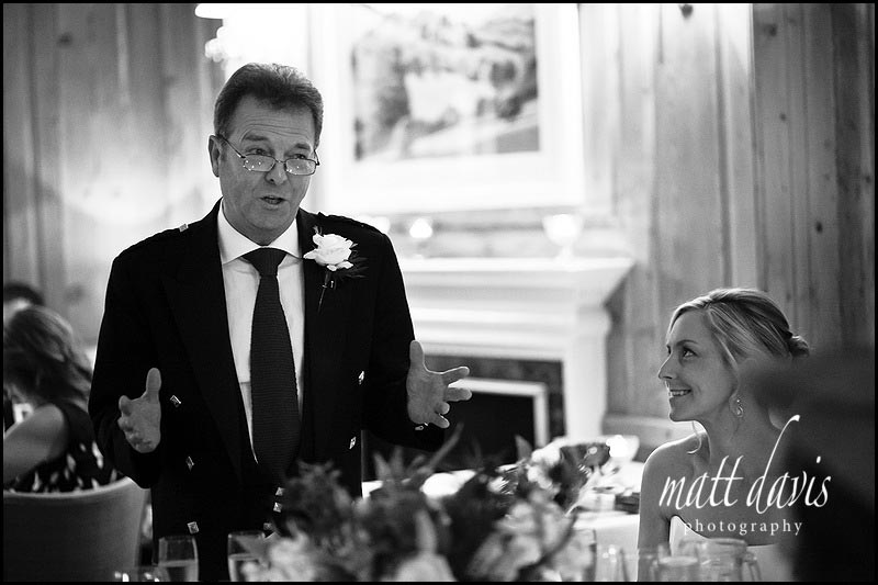 The Rectory Hotel wedding photos of fathers speech