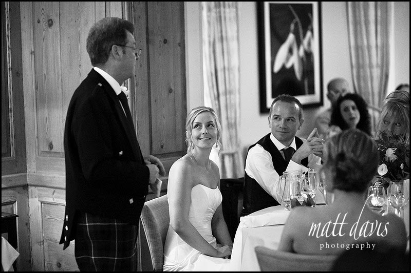 The Rectory Hotel wedding photos during speeches