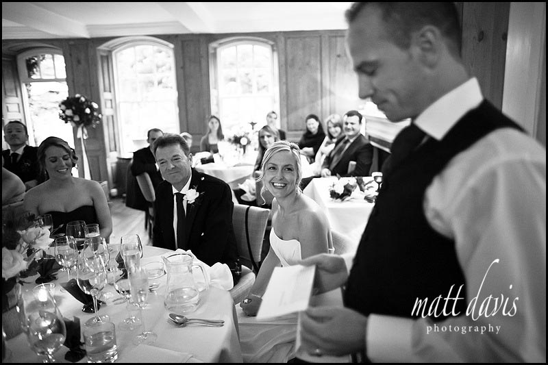 Speeches at The Rectory Hotel wedding