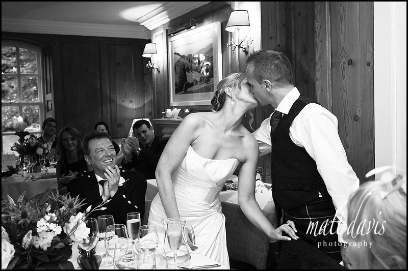 wedding photos during speeches at The Rectory Hotel