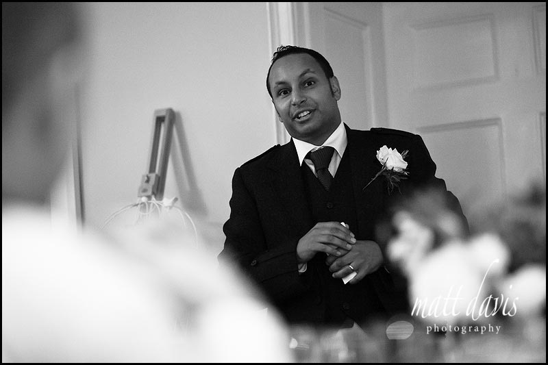 Best mans speech at The Rectory Hotel wedding