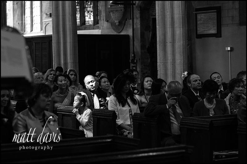 black and white wedding photos at Berkeley Church