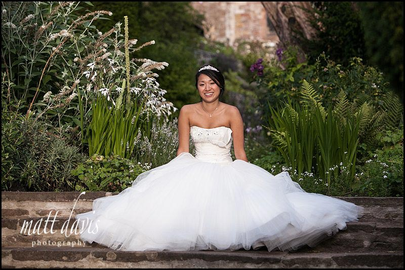 beautiful bridal photo by Berkeley Castle wedding photographer