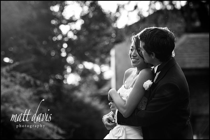 beautiful B&W wedding photos at Berkeley Castle