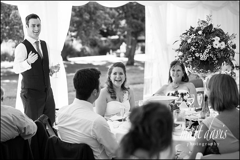 Wedding speeches at Friars Court wedding