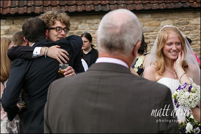 Reportage wedding photos at Kingscote Barn