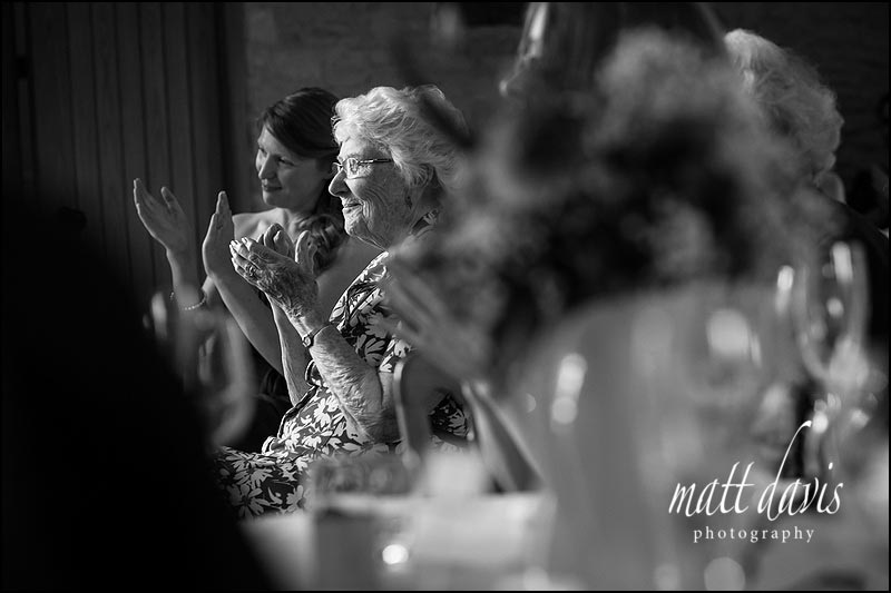 Black & White wedding photography at Kingscote Barn