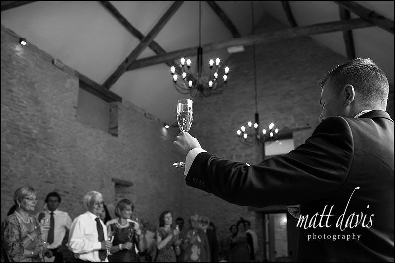 Kingscote Barn wedding photographer Matt Davis