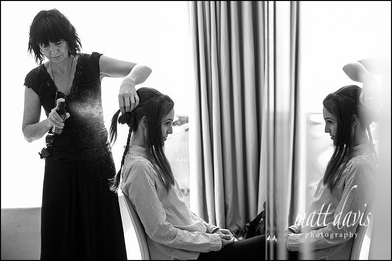 Bridal hair for Barnsley House weddings