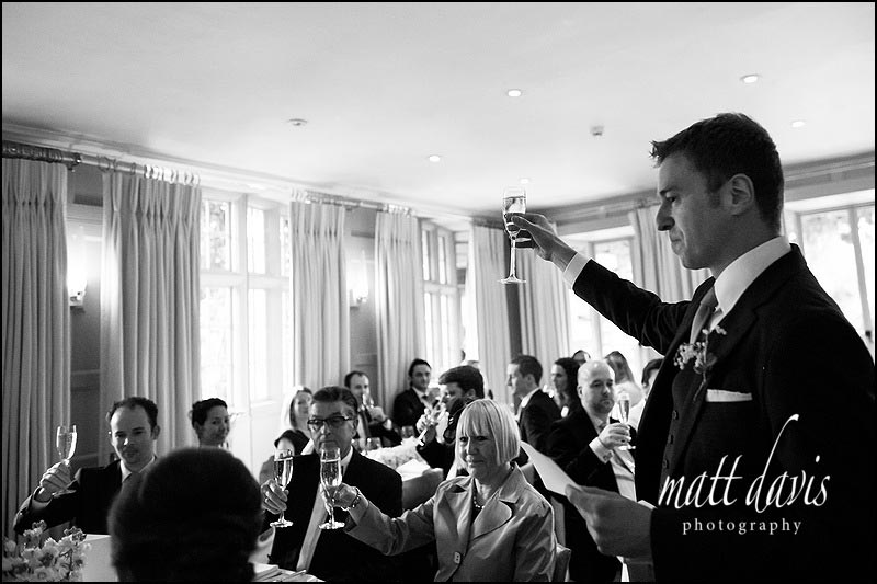 Speeches at Barnsley House wedding