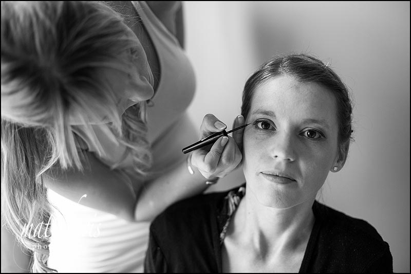 Documentary wedding photography by Matt Davis of bridal preps