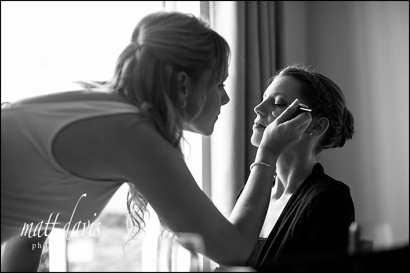Documentary wedding photography during bridal make-up
